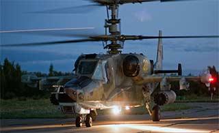 俄卡50武装直升机相当凶悍