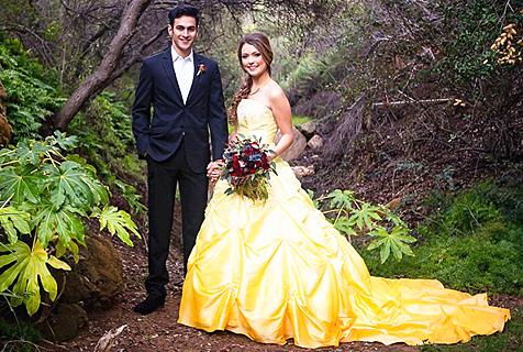 美女与野兽主题婚礼摄影如童话般浪漫