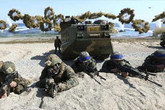 海陆空全面打响:美韩军演火力全开