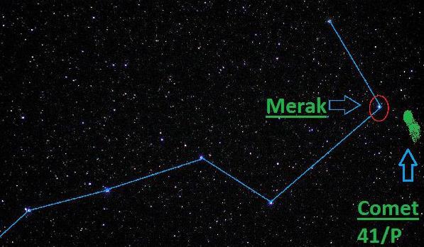 一颗绿色彗星正在接近地球