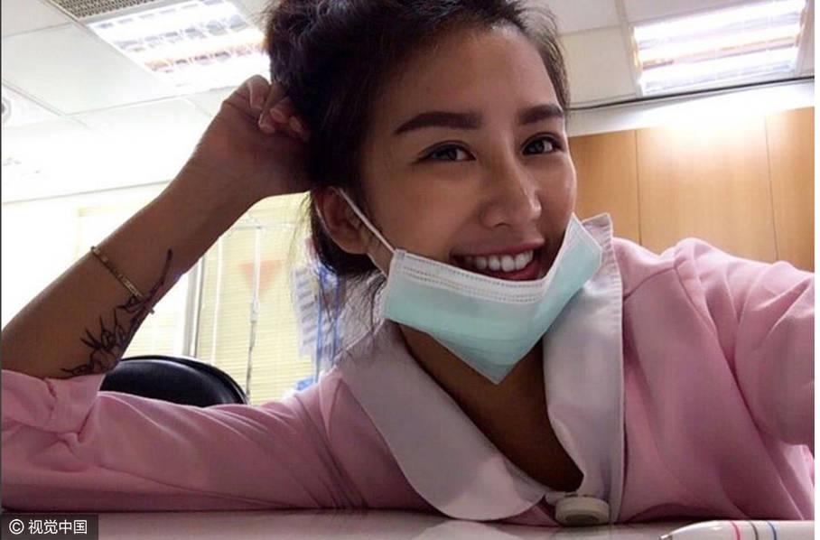 台湾美女护士因身材火辣爆红