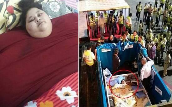 世界最胖女性26天减重120公斤 曾被起重机吊起送医恋足铺