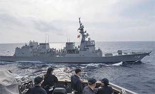 日本DD116驱逐舰抵达南海