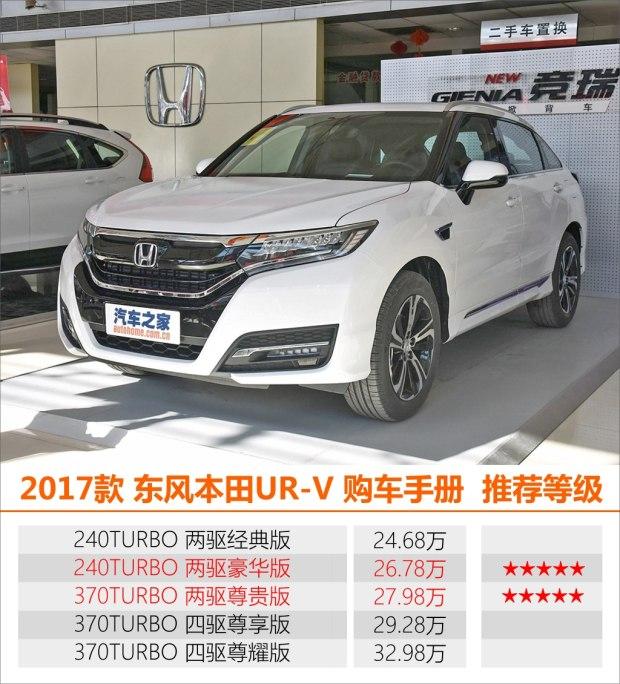 推荐240TURBO 两驱豪华版 UR-V购车手册
