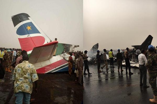 南苏丹客机在机场坠毁 机上44人恐全部遇难