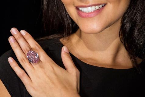 世界最贵粉钻将拍卖 估价超6千万美元