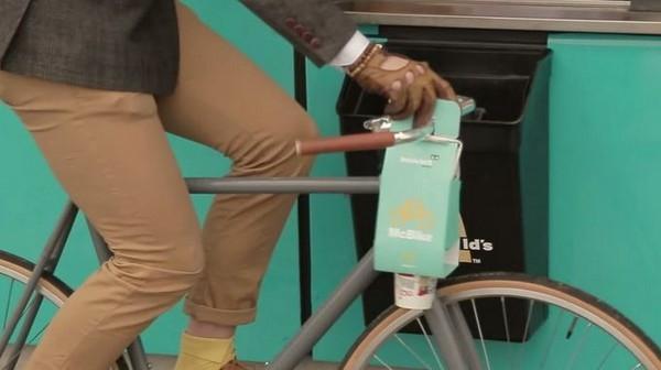 麦当劳为骑行者设计专用餐盒 饮料稳稳再不会洒