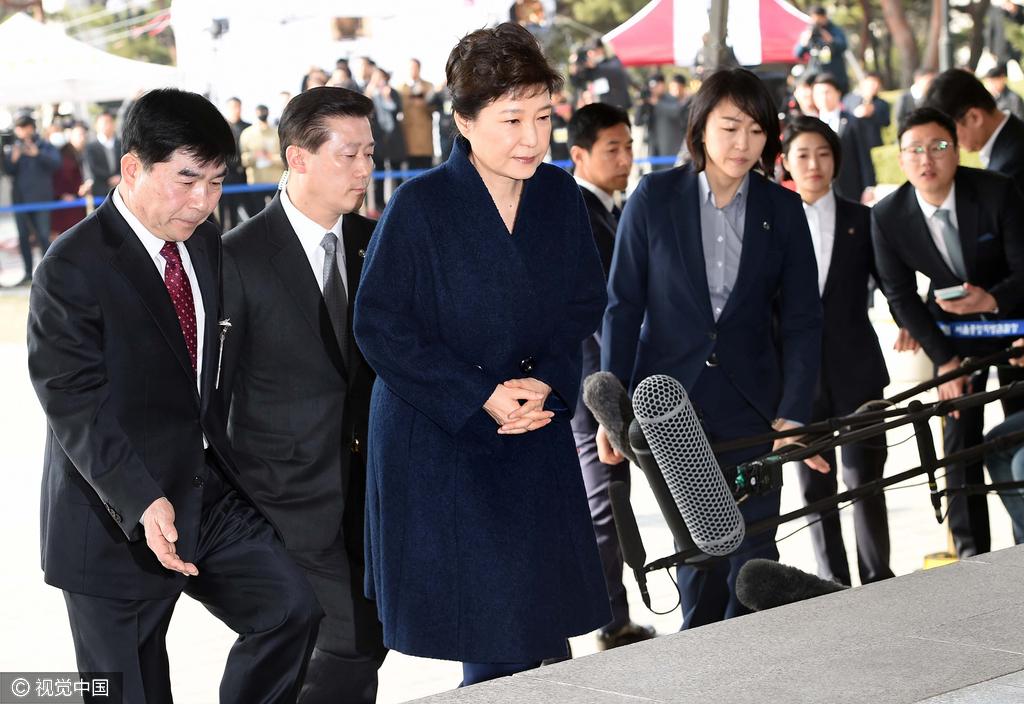 韩检方:朴槿惠尚未行使沉默权 预计今天可以回家