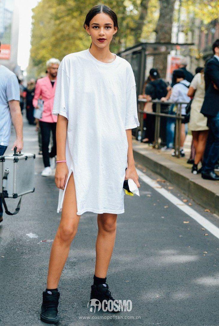 几十钱买的T恤裙竟是今年最时髦单品?不信你看她们