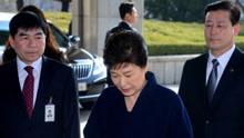 朴槿惠到案 对国民致歉承诺坦白受查