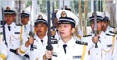 """南海舰队某支队首次向舰长授予""""深蓝之剑"""""""