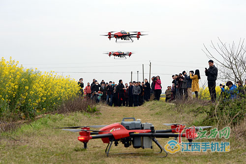 农村淘宝带来高科技 种地用上无人机