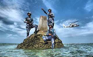 战士坚守中国美丽蓝色国土南沙