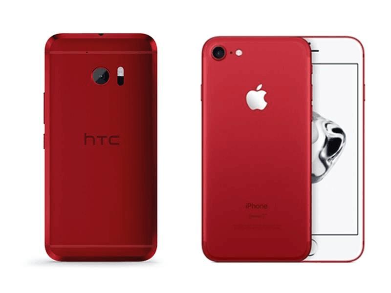苹果红色款iPhone 7被指抄袭HTC One
