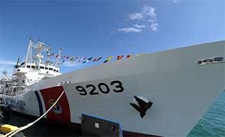 搅局南海:日送马大型海警船交付