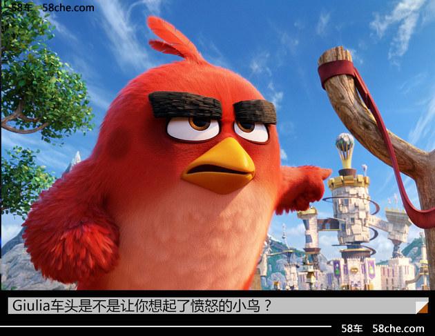 愤怒的小鸟 阿尔法·罗密欧Giulia实拍
