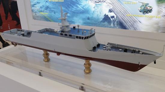 简氏:中国展示为马来西亚定制的濒海巡逻舰