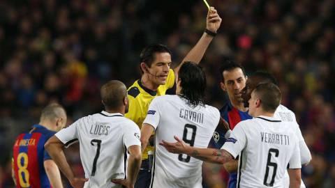 欧足联确认:巴萨战巴黎裁判无态度问题 不会禁赛