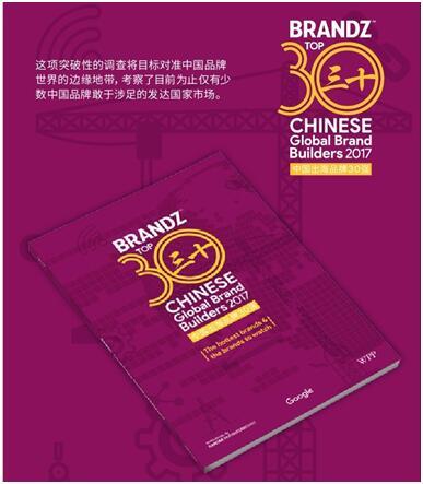 2017BrandZ™中国出海品牌30强 平衡车行业首上榜