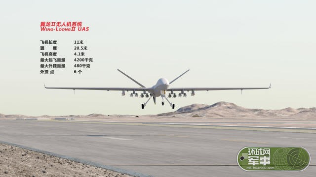 美媒:翼龙2可携带12枚导弹 性能接近美军MQ-9