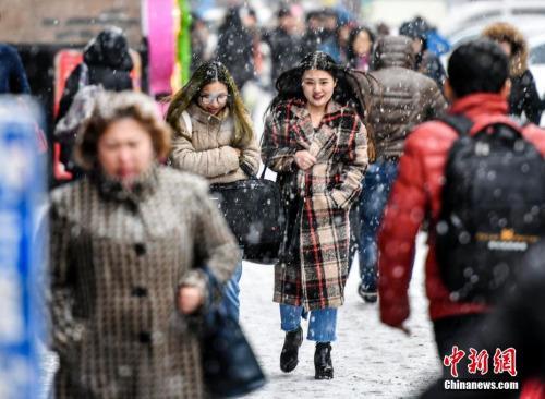 中国北方受冷空气侵袭 北京局地今日将出现大雪