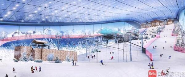 先睹为快!全球最大室内滑雪场6月底开业(图)