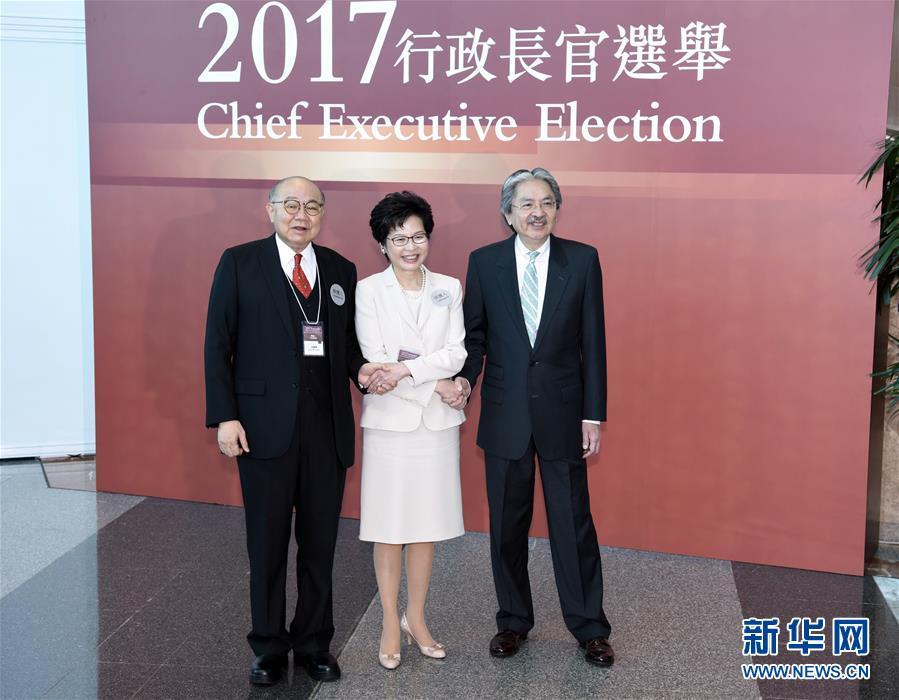 香港特区第五任行政长官选举投票开始