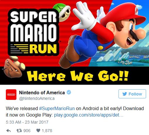 任天堂:手游并非仅为赚钱 扩展IP受众购买主机