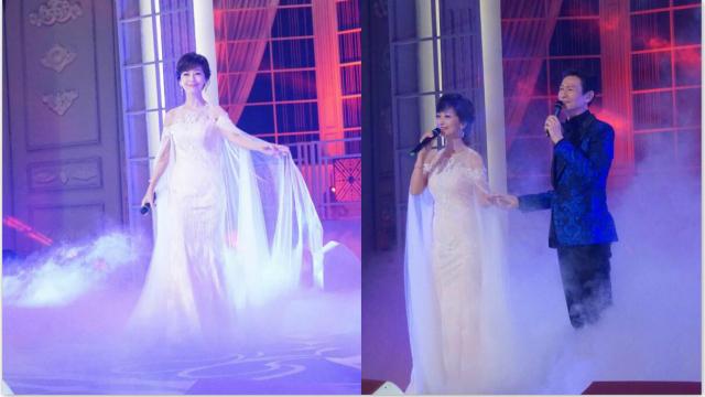 赵雅芝穿白裙又仙又美