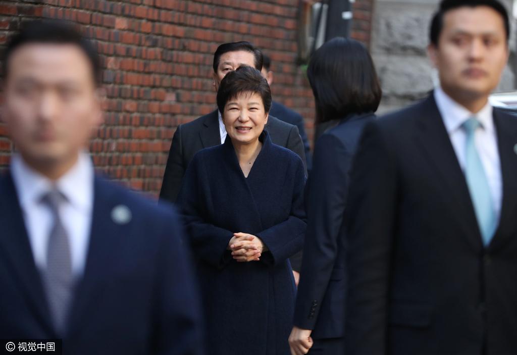 朴槿惠或今明被提请批捕 避免影响韩国大选选情
