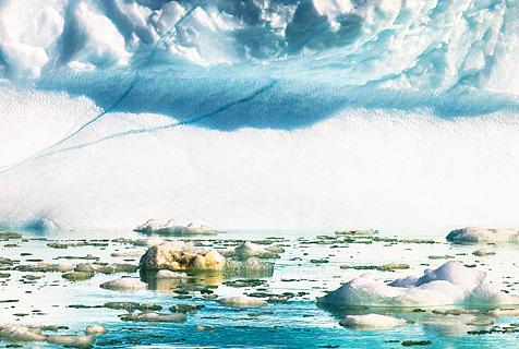 美摄影师拍北极冰融图呼吁重视环境问题
