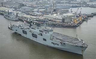 澳两栖攻击舰完成半年部署回港