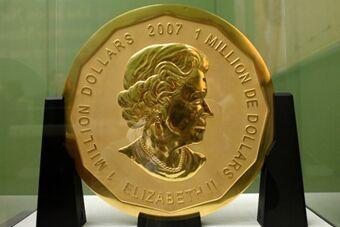 世界超级金币德国被偷 重达100公斤
