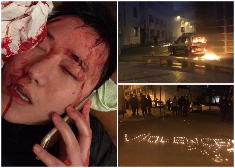 中国公民被法国警察枪杀 华人悼念起冲突变骚乱(图)