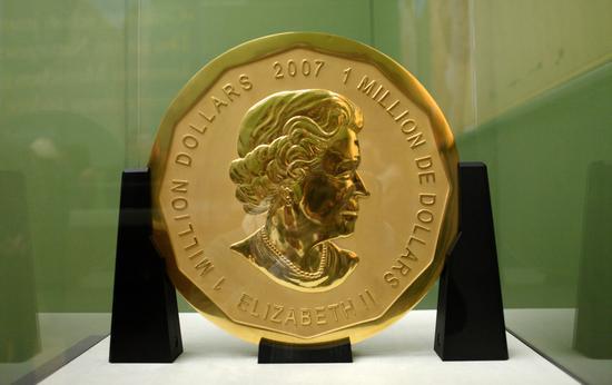 博物馆一重达100公斤金币被盗 面值100万美元