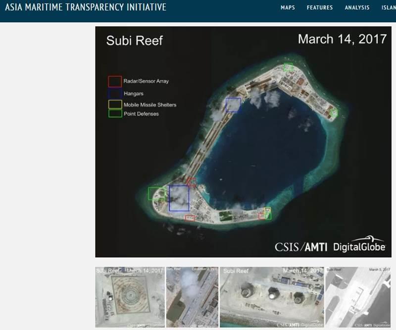 美智库再炒南海岛礁建设:主要军事设施已完成 战机随时进驻