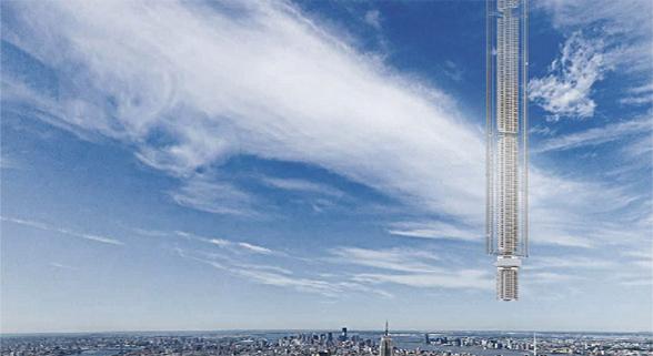 """美建筑设计""""日行迹塔"""":摩天大楼建在天上"""