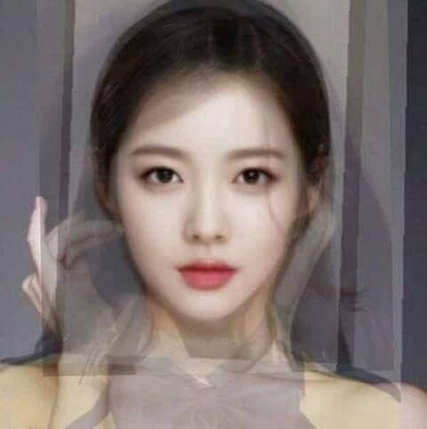 PS大神用女星照片合成最美脸型:颜值高到离