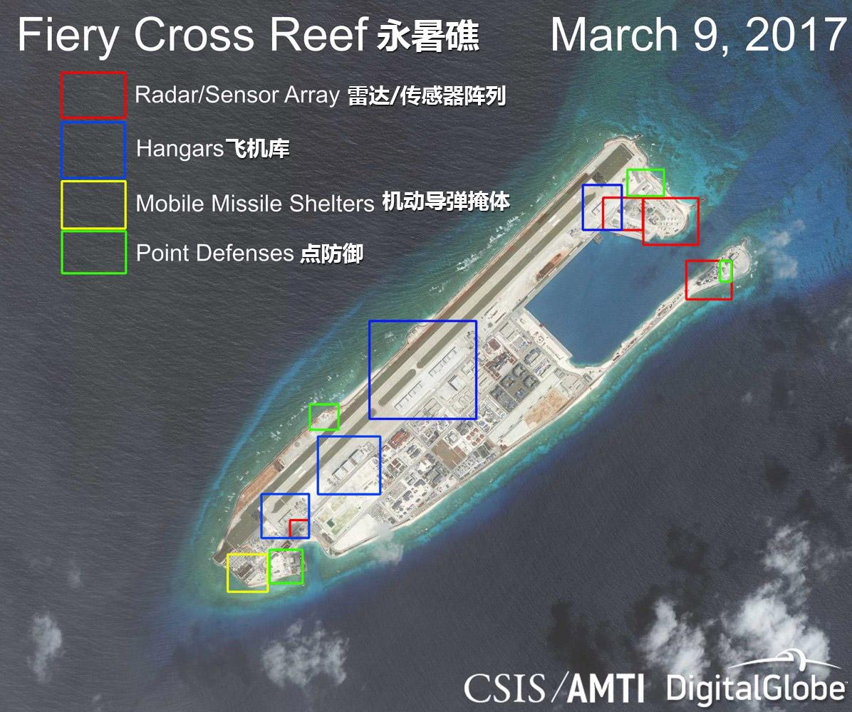 美智库报告渲染南海军事化 称中国军机随时进驻