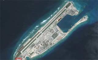 美报告公布我南海岛礁卫星图