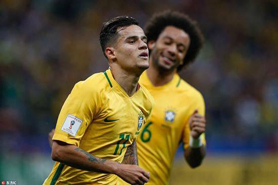 世预赛-保利尼奥2助攻内马尔破门 巴西3-0巴拉圭