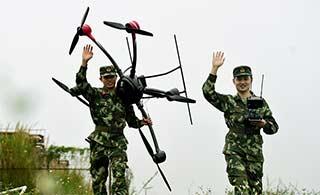 武警航拍用什么型号无人机