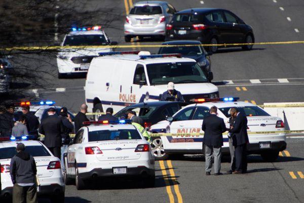 美国国会山附近发生袭警事件