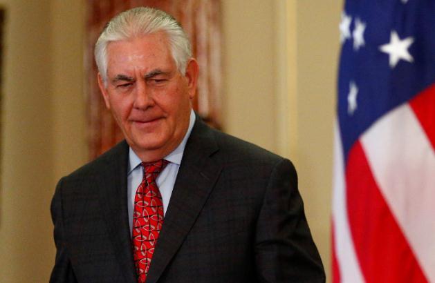 """俄媒:美国务卿蒂勒森""""不久""""将与普京会面"""