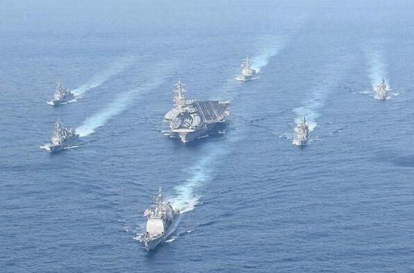 制约朝鲜防范中国?日军舰与美航母再搞联合演习