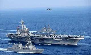 美日东海再开军演 航母登场