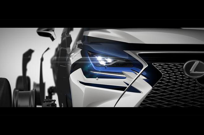 雷克萨斯新NX预告图发布 上海车展全球首发