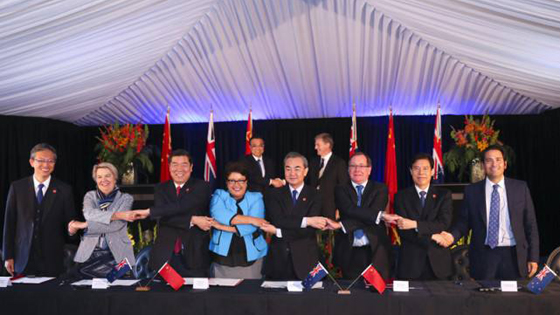 英媒:新西兰支持一带一路 不在中美间选边站