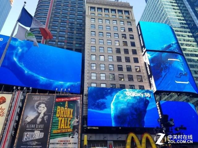 三星s8廣告登紐約時報廣場 成全球焦點圖片