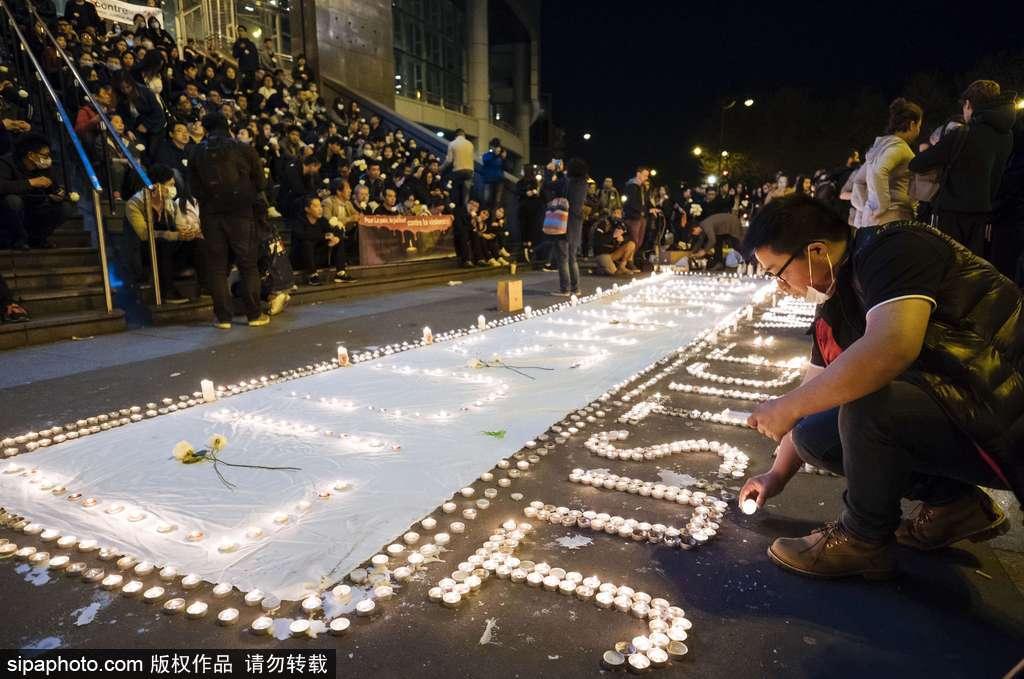 巴黎200人街头抗议华侨遭警察枪杀:醒醒吧!你们在这个国家仍受欺压